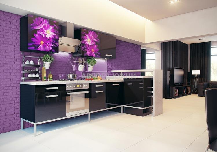 представлены красивая фиолетовая кухня фото должен